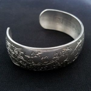 Kirk Stieff Lily of the Valley Pewter Bracelet